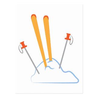 Ski Equipment Post Cards