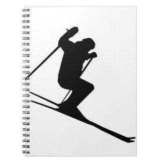 Ski Gear Spiral Notebook