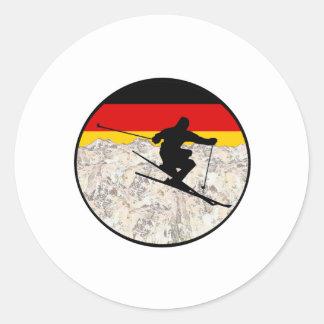Ski Germany Classic Round Sticker