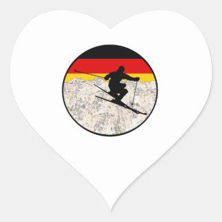 Ski Germany Heart Sticker