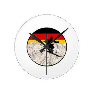 Ski Germany Round Clock