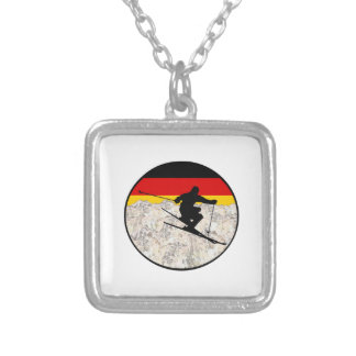 Ski Germany Silver Plated Necklace
