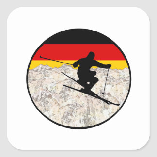 Ski Germany Square Sticker