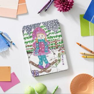 Ski girl iPad Air Cover