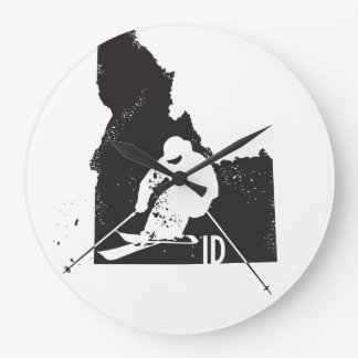 Ski Idaho Large Clock