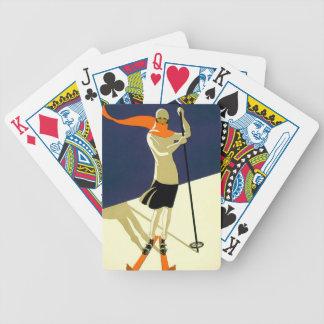 Ski in Switzerland Vintage Travel Playing Cards