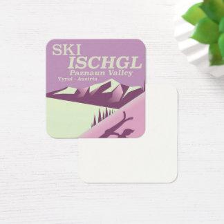 Ski Ischgl,Paznaun Valley Tyrol Square Business Card