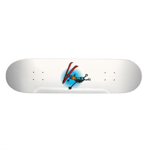 Ski Jump Alien Sister Skate Board Deck