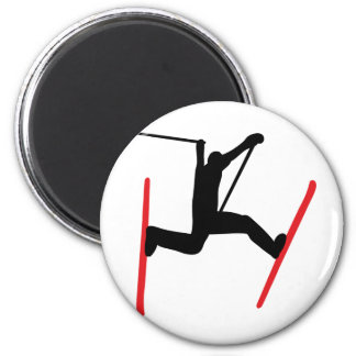 ski jump icon magnet