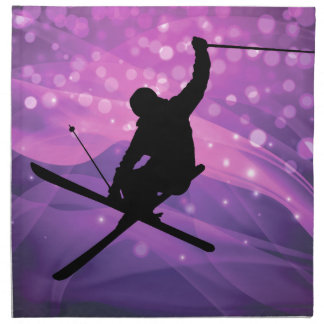 Ski Jump Napkin