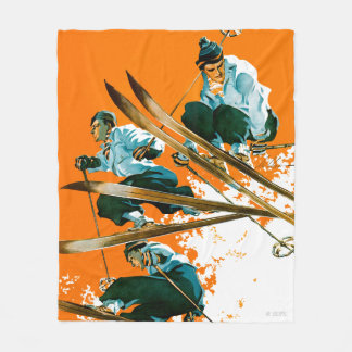 Ski Jumpers by Ski Weld Fleece Blanket