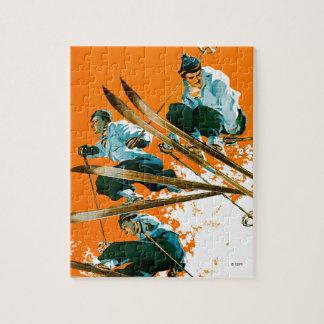 Ski Jumpers by Ski Weld Jigsaw Puzzle