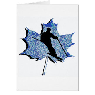 SKI LEAF DREAM GREETING CARD