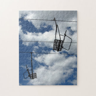 Ski Lift and Sky Jigsaw Puzzle