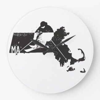 Ski Massachusetts Large Clock