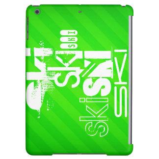 Ski; Neon Green Stripes iPad Air Case