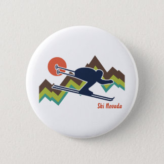 Ski Nevada 2 Inch Round Button
