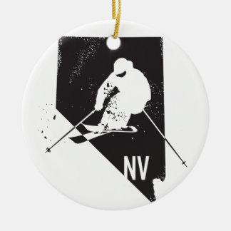 Ski Nevada Ceramic Ornament