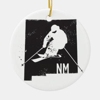 Ski New Mexico Ceramic Ornament