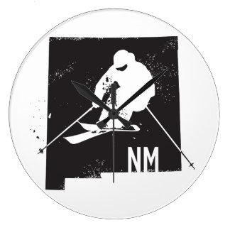 Ski New Mexico Large Clock