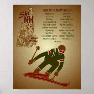 Ski NH Poster Friends Discount