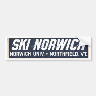 ski norwich bumper sticker