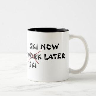 Ski Now Ski Later Two-Tone Coffee Mug