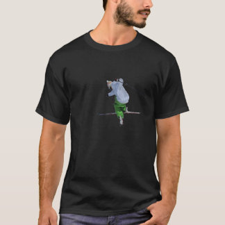 ski on black T-Shirt