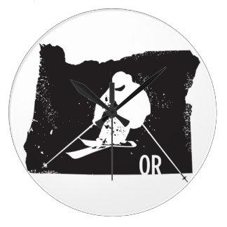 Ski Oregon Large Clock