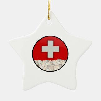 Ski Patrol Ceramic Ornament