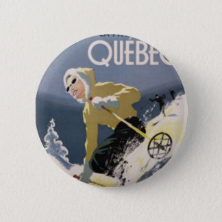 Ski Quebec 2 Inch Round Button