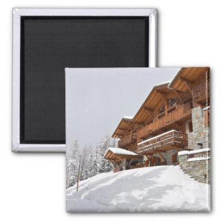 Ski resort chalet magnet