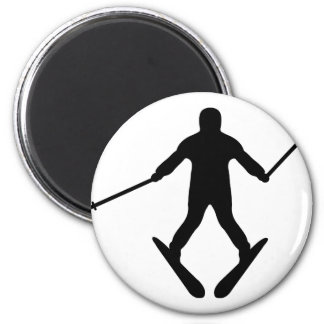 ski skiing learner - plow magnet