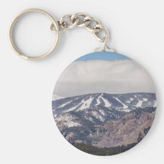 Ski Slope Dreaming Basic Round Button Keychain