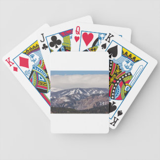 Ski Slope Dreaming Bicycle Playing Cards