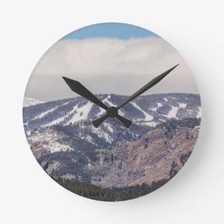 Ski Slope Dreaming Round Clock