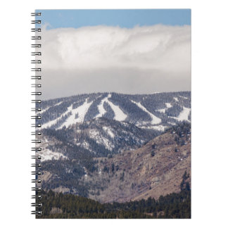 Ski Slope Dreaming Spiral Notebook