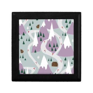 Ski slopes gift box