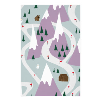 Ski slopes stationery