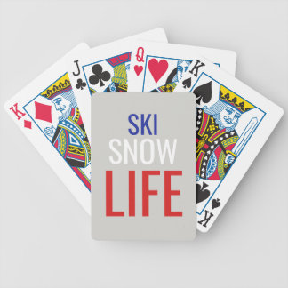 Ski, Snow, Life Bicycle Playing Cards