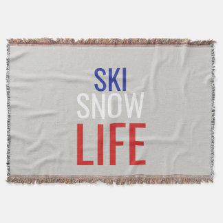 Ski, Snow, Life Throw Blanket