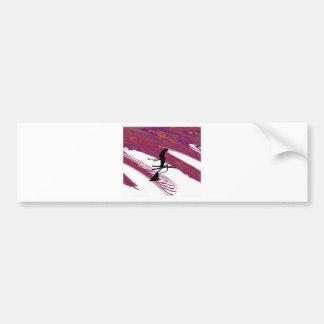 SKI static Cling Bumper Sticker