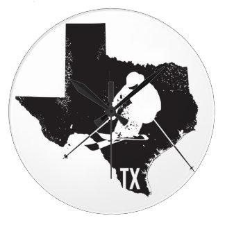 Ski Texas Large Clock