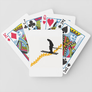 Ski the People Bicycle Playing Cards
