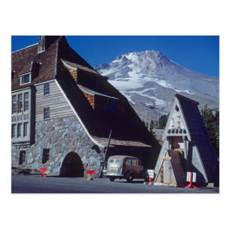 Ski Timberline Lodge Mt Hood Oregon 1950's Photo Postcard