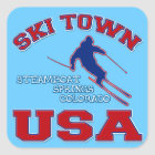 Ski Town USA, Steamboat Springs, Colorado Square Sticker