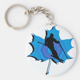 SKI UPPER WHISTLER BASIC ROUND BUTTON KEYCHAIN