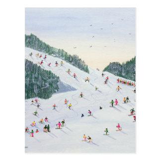 Ski-vening 1995 postcard