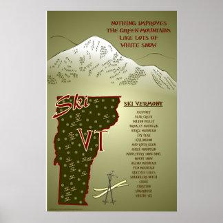 Ski VT Poster