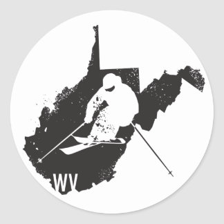 Ski West Virginia Classic Round Sticker